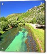 Krka River Below Knin Fortress View Acrylic Print