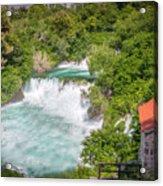 Krka Waterfall Croatia Acrylic Print