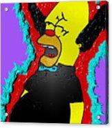 Krusty The Clown Found Dead Acrylic Print