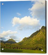 Kualoa Ranch Acrylic Print by Dana Edmunds - Printscapes