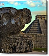 Kukulkan Pyramid At Chichen Itza In The Yucatan Of Mexico Acrylic Print