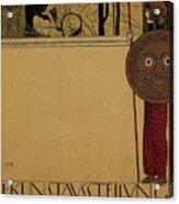 kunstavsstellvng - Vienna Secession Exhibition - Retro travel Poster - Vintage Poster Acrylic Print