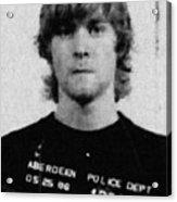 Kurt Cobain Mug Shot Painting Vertical Black And Gray Grey Acrylic Print
