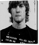 Kurt Cobain Mug Shot Vertical Black And Gray Grey Acrylic Print