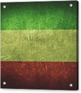 Kuwait Distressed Flag Dehner Acrylic Print