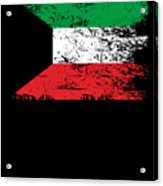 Kuwait Shirt Gift Country Flag Patriotic Travel Asia Light Acrylic Print
