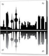 Kuwait Skyline Acrylic Print
