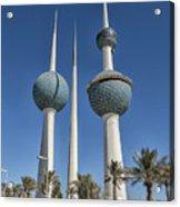 Kuwait Towers In Kuwait City, Kuwait Acrylic Print