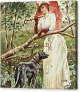 Kvinna Med Parasoll  Acrylic Print