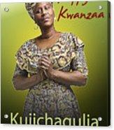 Kwanzaa Kujichagulia Acrylic Print