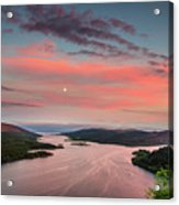 Kyles Of Bute In Twilight Acrylic Print