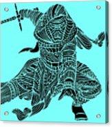 Kylo Ren - Star Wars Art - Blue Acrylic Print