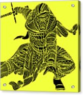 Kylo Ren - Star Wars Art - Yellow Acrylic Print