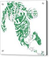 Kyrie Irving Boston Celtics Pixel Art 9 Acrylic Print