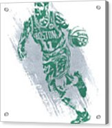 Kyrie Irving Boston Celtics Water Color Art 2 Acrylic Print