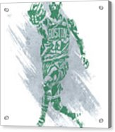 Kyrie Irving Boston Celtics Water Color Art Acrylic Print