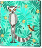 L Is For Lemur And Lark Acrylic Print