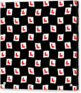 L-plate Wallpaper Acrylic Print