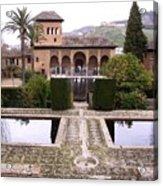 La Alhambra Garden Acrylic Print