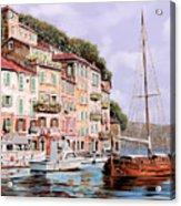 La Barca Rossa Alla Calata Acrylic Print