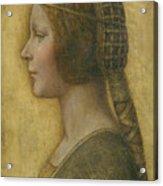La Bella Principessa - 15th Century Acrylic Print by Leonardo da Vinci
