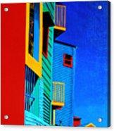 La Boca Street Scene Twelve Acrylic Print