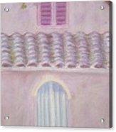 La Casa Rosa Lunga Il Treve Acrylic Print