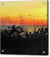 la Casita Playa Hermosa Puntarenas Costa Rica - Sunset A Panorama Acrylic Print