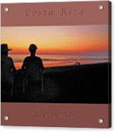 la Casita Playa Hermosa Puntarenas Costa Rica - Sunset Happy Couple Panorama Greeting Card Bold Acrylic Print