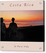 la Casita Playa Hermosa Puntarenas Costa Rica - Sunset Happy Couple Panorama Greeting Card Soft Acrylic Print