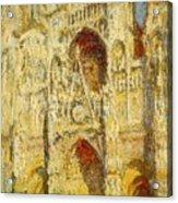 La Cathedrale De Rouen Le Portail Et La Tour Saint-ro Claude Oscar Monet Acrylic Print