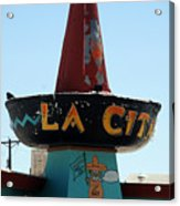 La Cita In Tucumcari On Route 66 Nm Acrylic Print