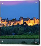 La Cite Carcassonne Acrylic Print by Brian Jannsen