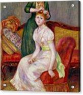 La Coiffure Acrylic Print by Renoir