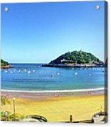 La Concha Bay San Sebastian Acrylic Print