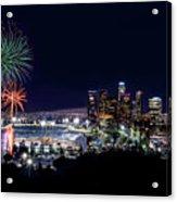 La Dodger Fireworks Acrylic Print