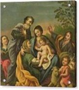 La Familia Con Los Santos Juanes Acrylic Print