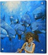 La Flautista Acrylic Print