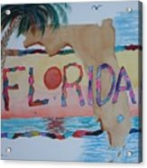 La Florida Flowered Land Acrylic Print