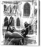 La Fontaine Stravinski In Black And White Acrylic Print