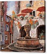 la fontana a St Paul de Vence Acrylic Print