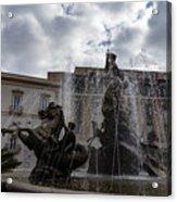 La Fontana Di Diana - Fountain Of Diana Silver Jets And Sky Drama Acrylic Print