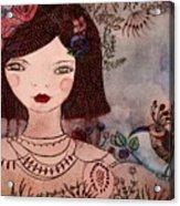 La Jolie Poupee Et L' Oiseau Acrylic Print