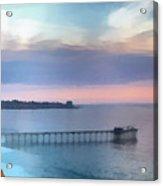 La Jolla Scripps Pier Acrylic Print by Russ Harris