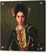 La Montera Segovia Girl In Fiesta Costume 1912 Acrylic Print