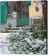 La Neve A Casa Acrylic Print by Guido Borelli