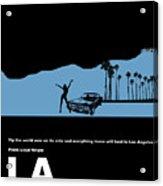 La Night Poster Acrylic Print