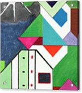 La Notte Sopra La Citta Verde - Part V Acrylic Print