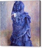 La Parisienne The Blue Lady  Acrylic Print by Pierre Auguste Renoir