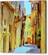 La Piccola Strada Acrylic Print